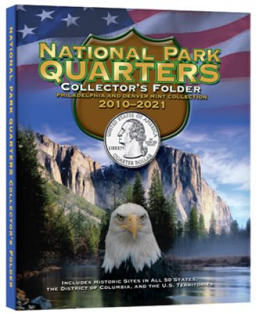 Whitman National Park Quarters Four Panel Cushioned Folder