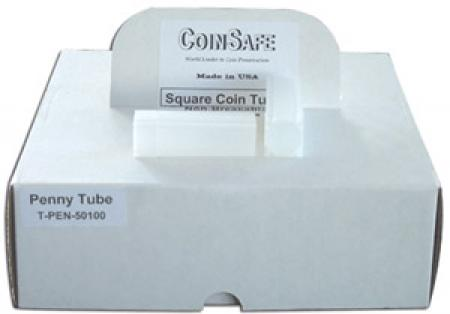 Coin Safe Square Tubes, Cent Size