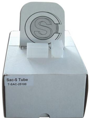 Coin Safe Square Tubes, Small Dollar Size