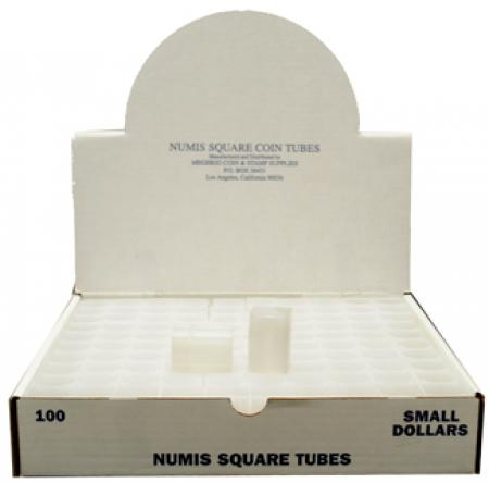 Numis Square Tubes, Small Dollar Size - 20 coin