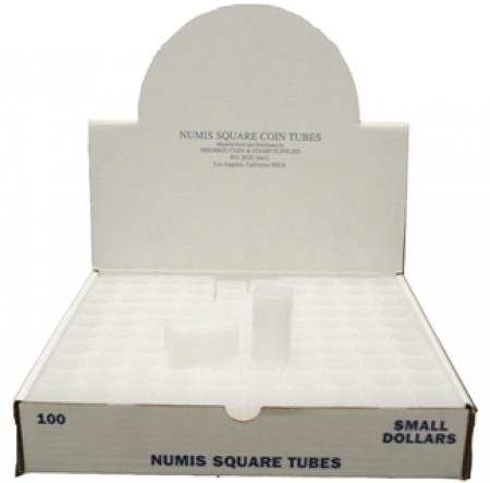 Numis Square Tubes, Small Dollar Size - 25 coin