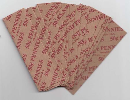 Flat Coin Wrappers - Cent Size