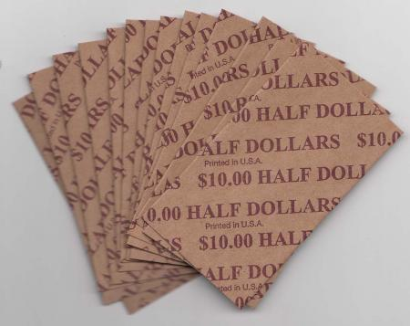 Flat Coin Wrappers - Half Dollar Size