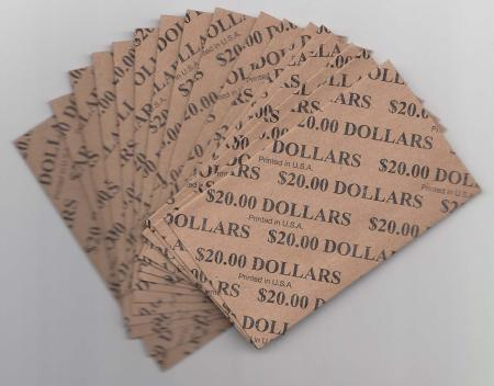 Flat Coin Wrappers - Large Dollar Size