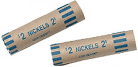 Preformed Coin Wrappers - Nickel Size