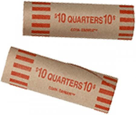 Preformed Coin Wrappers - Quarter Size