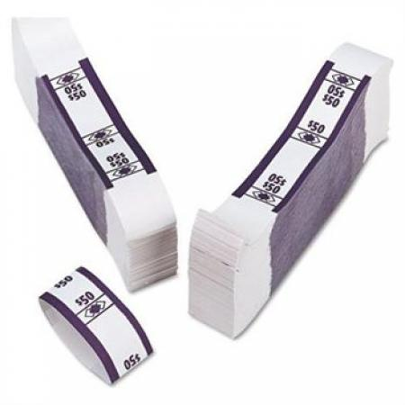 SecureIT Currency Bands -- $50 -- Deep Purple -- Bundle of 1000