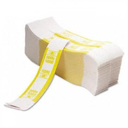 SecureIT Currency Bands -- $1000 -- Yellow -- Bundle of 1000