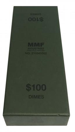 Dime Roll Storage Box (Green)