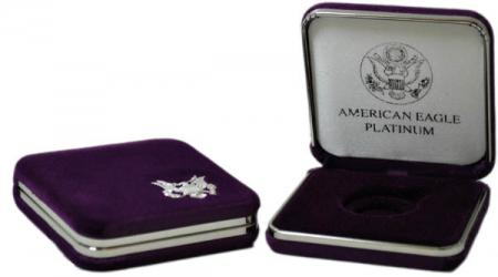 US Mint Presentation Case -- 1/2 oz Platinum American Eagle