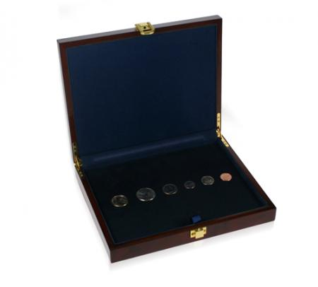 Large Customizable Burlwood Multiple Coin Case (Slabs, Medals, multi-coin)