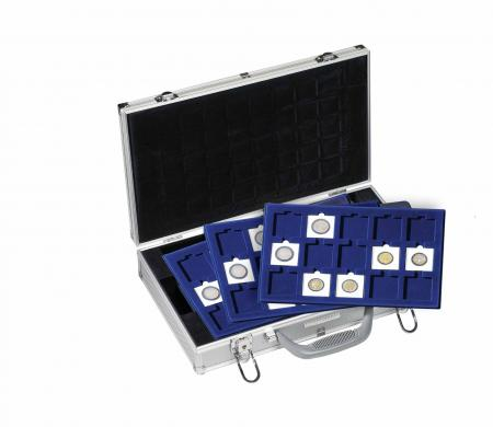 Lighthouse Aluminum Coin Case (6-Tray Size) -- Silver