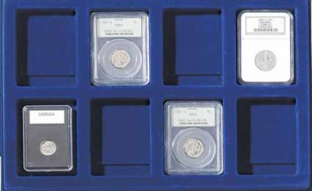 Lighthouse Coin Tray for up to 8 Slabs (set of 2)