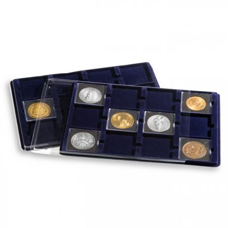 Lighthouse Blue Coin Tray -- 12 Crown Spaces -- 67x67mm (Set of 2)