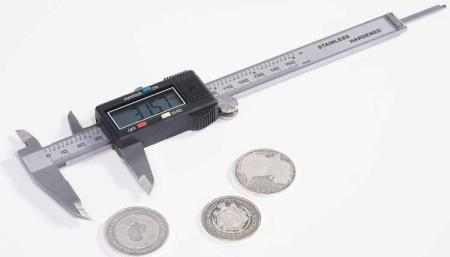 Lighthouse Stainless Steel Digital Coin Sizing Gauge