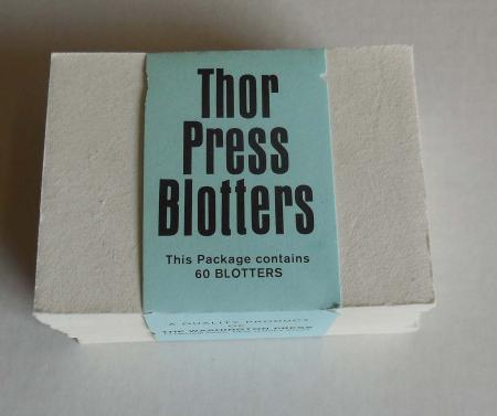 White Ace Thor Stamp Press Blotters