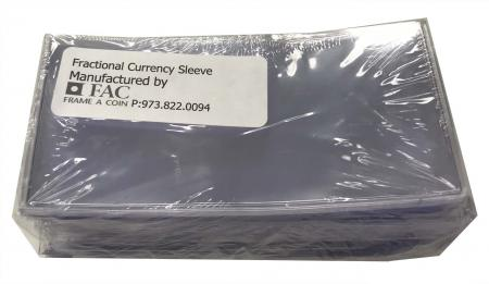 Frame-A-Coin Safety UN Vinyl Currency Sleeves - Fractional