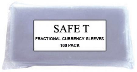 Safe T Vinyl Currency Sleeves - Fractional