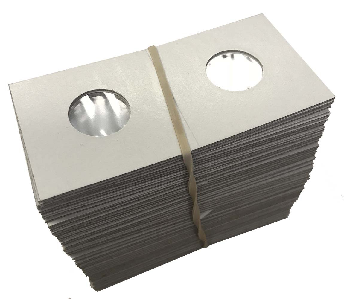 "Cardboard//Mylar Coin Holders 2X2 /""COWENS/"" 100 Assorted Size"