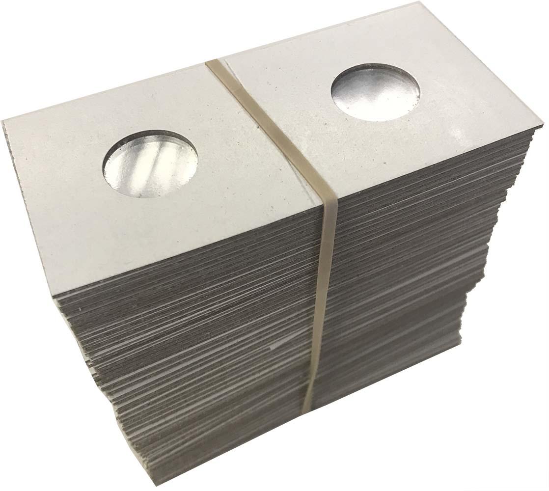 100 1.5x1.5 Cardboard Coin Holders QUARTERS