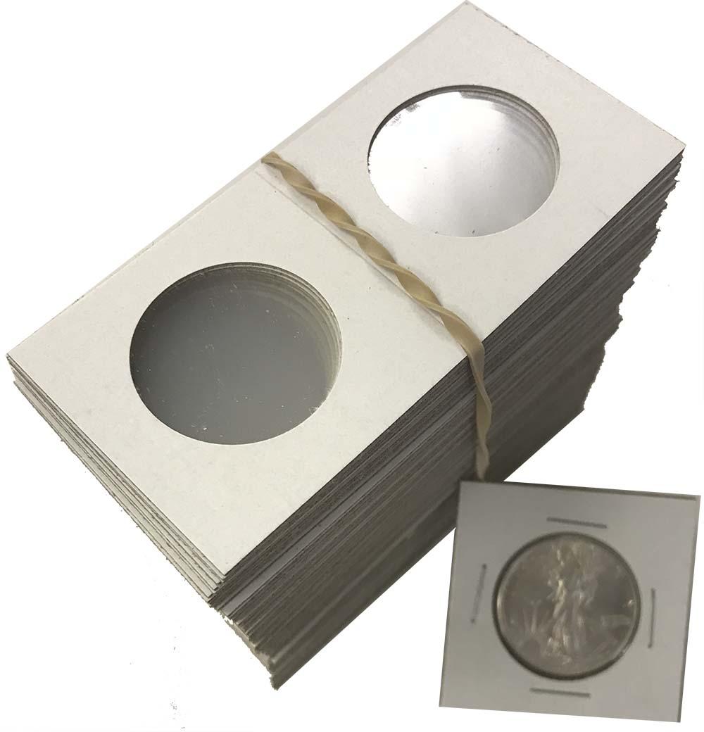 HALF $ 50 CENTS 100 AIRTITE COIN HOLDER CAPSULE BLACK RING 30 MM HALF DOLLAR