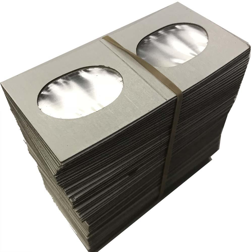 Bulk 100 2x2 Collector Safe Dime Coin Flips Cardboard Mylar NEW Mercury