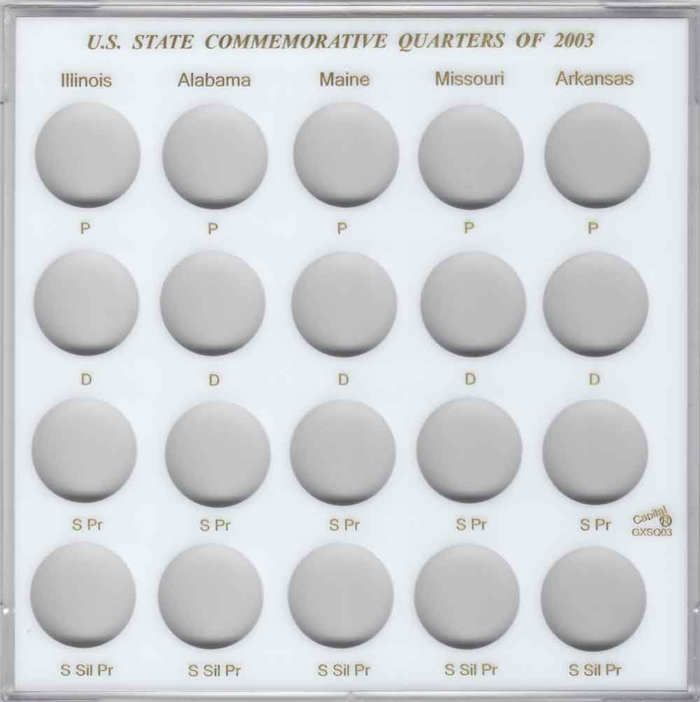 Capital Holder For US American Silver Eagle Coin Year Set 2013 2021 Galaxy White