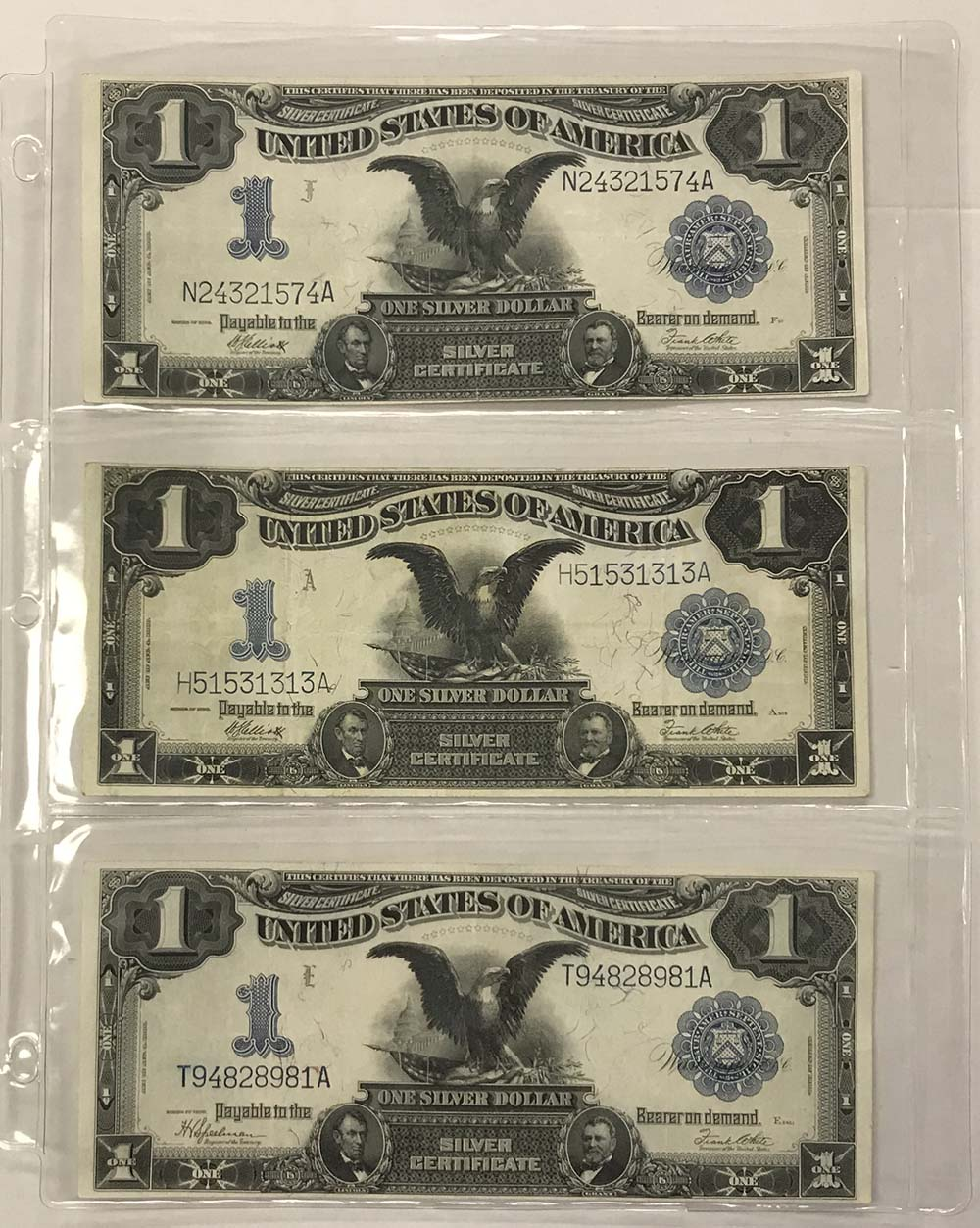 """10 BCW sheets to display Currency that have 3 pocket 3 1//2/"""" X 8/"""""""
