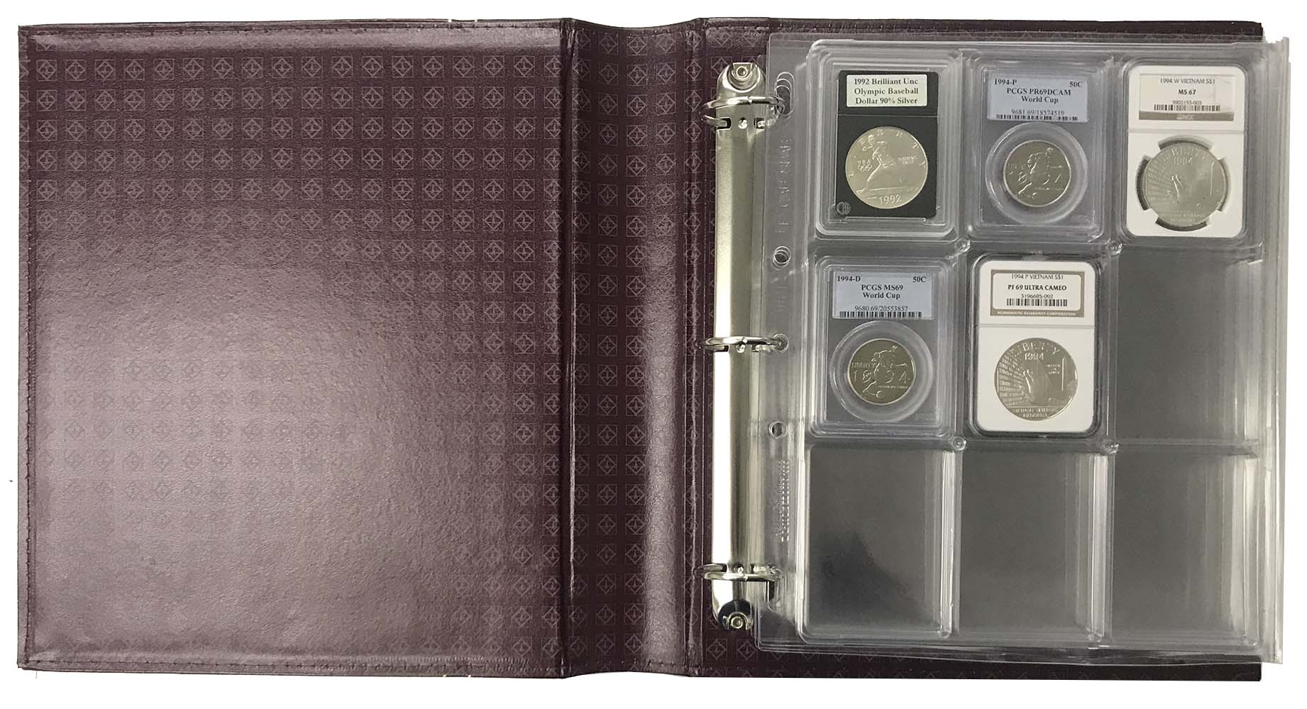 Grande Classic Coin Album Set for up to 36 Certified Coin Holders Blue