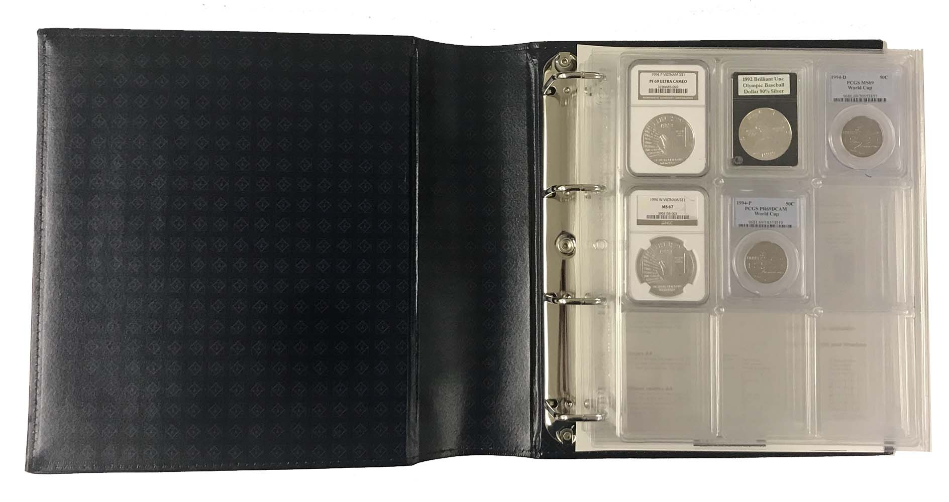 Lighthouse GREEN Classic Grande Gigant Coin Stamp /& Banknote Album