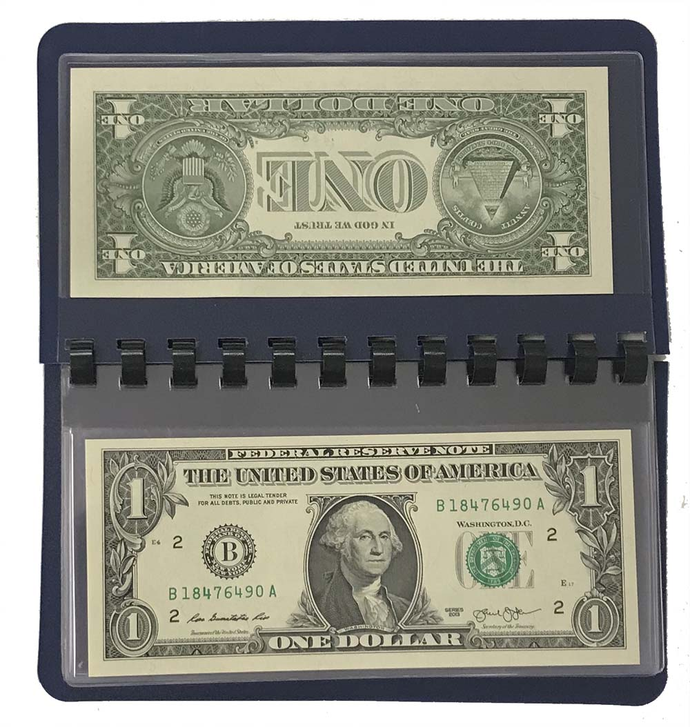 LOT OF 50 3 Pocket GuardHouse Currency Banknote Dollar Album Pages Coupons