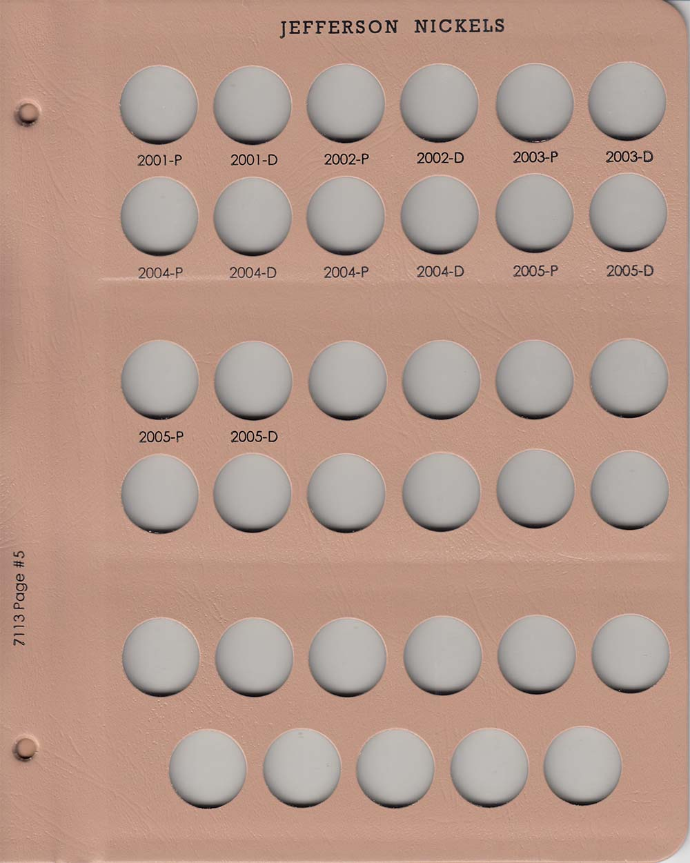 Dansco Coin Album # 7113 For Jefferson Nickels From 1938-2005 NEW!!!