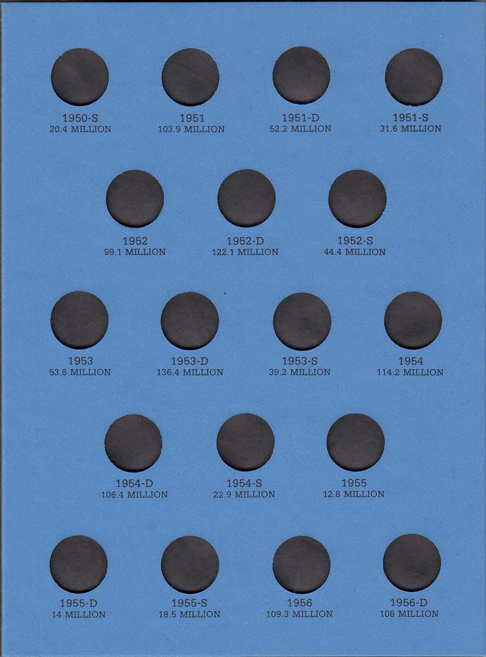 H.E 1 Harris Roosevelt Dime Folder 1946-1964 Coin Storage Album Display No