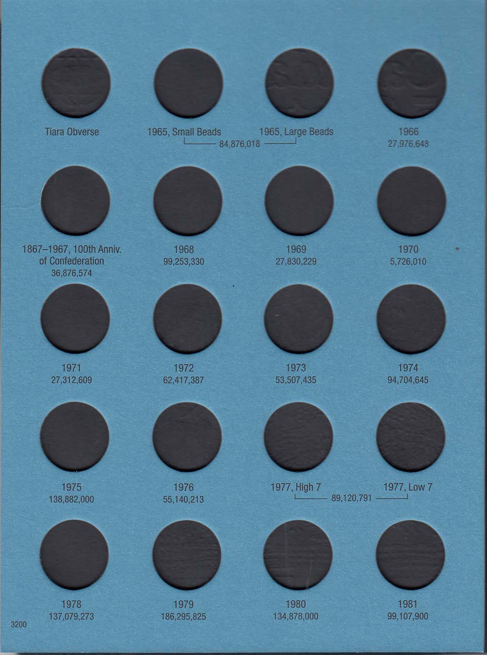 Whitman Folder 3200 Canadian 5 Cents Vol 2 1965 2012