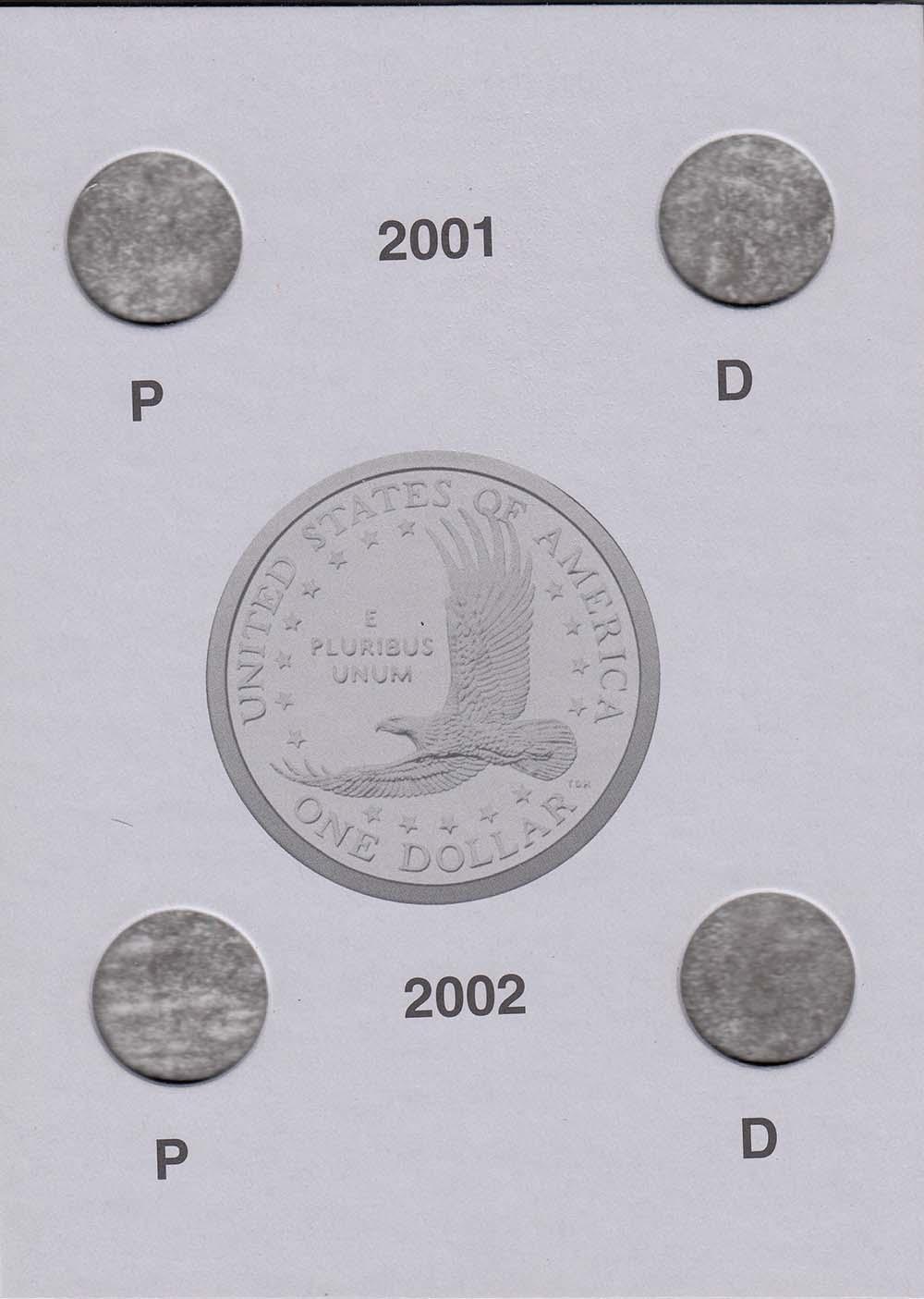 NEW ALBUM SACAGAWEA DOLLARS 2000-2004 FOLDER HARRIS  NO COINS NEW PERFECT