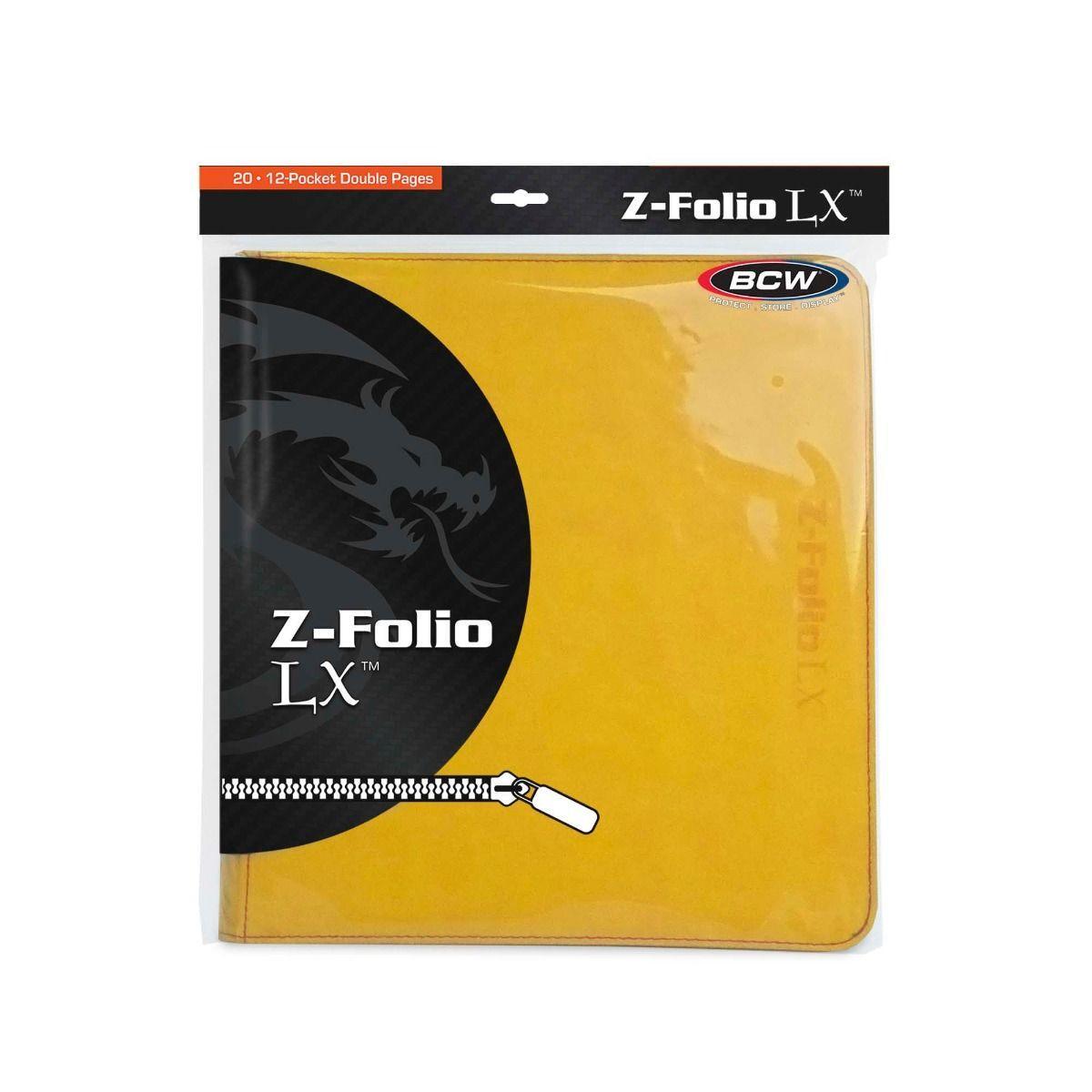 BCW Z Folio LX Album 12 Pocket Yellow