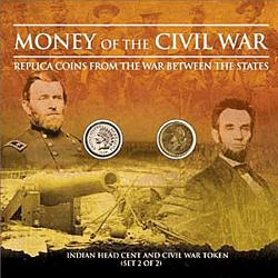 Money of the Civil War - Indian Head Cent and Civil War Token