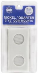 Whitman 2x2 Coin Mounts -- Retail Pack of 30 -- Nickel/Quarter Size