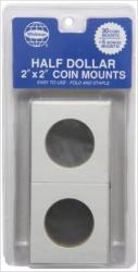 Whitman 2x2 Coin Mounts -- Retail Pack of 30 -- Half Dollar Size
