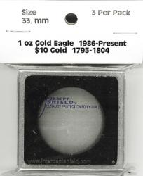 Intercept Shield 2X2 Holders 33mm ($10 Gold, 1 oz AGE/APE)