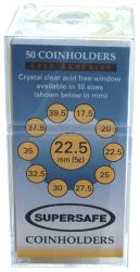 Supersafe Self Adhesive 2x2 Holders -- 22.5mm (Nickels)