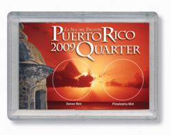HE Harris Puerto Rico Quarter Frosty Case, 2x3