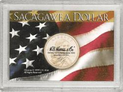 HE Harris Sacagawea Flag Frosty Case, One Hole, 2x3