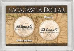 HE Harris Sacagawea P&D Frosty Case - Map, 2x3
