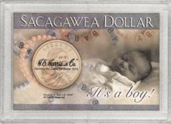 HE Harris Sacagawea Frosty Case - It's a Boy!, 2x3