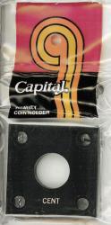 2x2 Capital Holder Plastic Snaplock Barber Half Dollar Coin White Capsule New