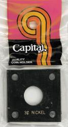 Capital Holder - 3c Nickel, 2x2