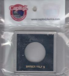 Capital Holder - Barber Half Dollar, 2.5x2.5