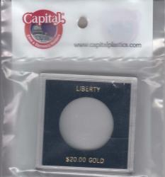 Capital Holder - Liberty $20 Gold, 2.5x2.5