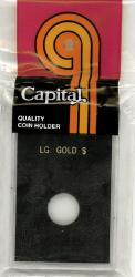 Capital Holder - Large Gold Dollar, 2x3